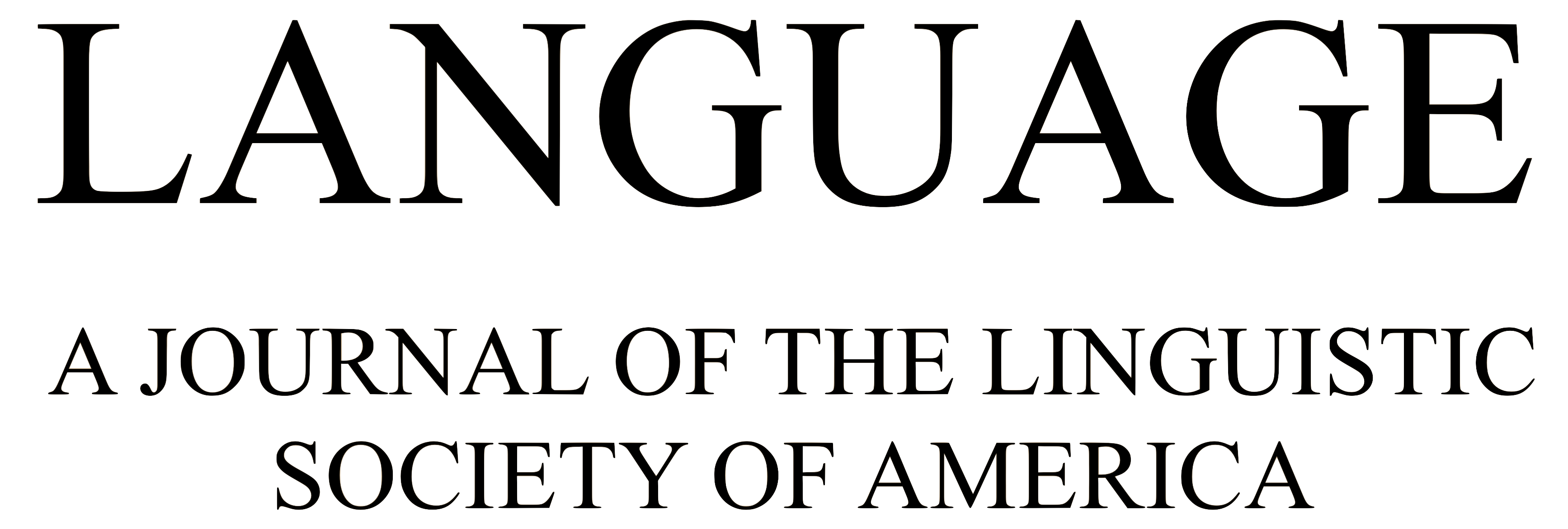 Language: A Journal of the LSA